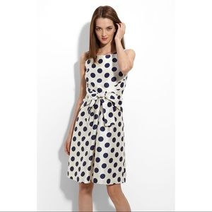 Kate Spade New York Jillian Blue Dot Dress Size 8